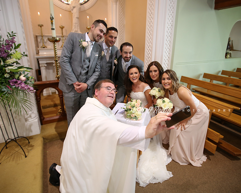 Wedding Selfie Priest