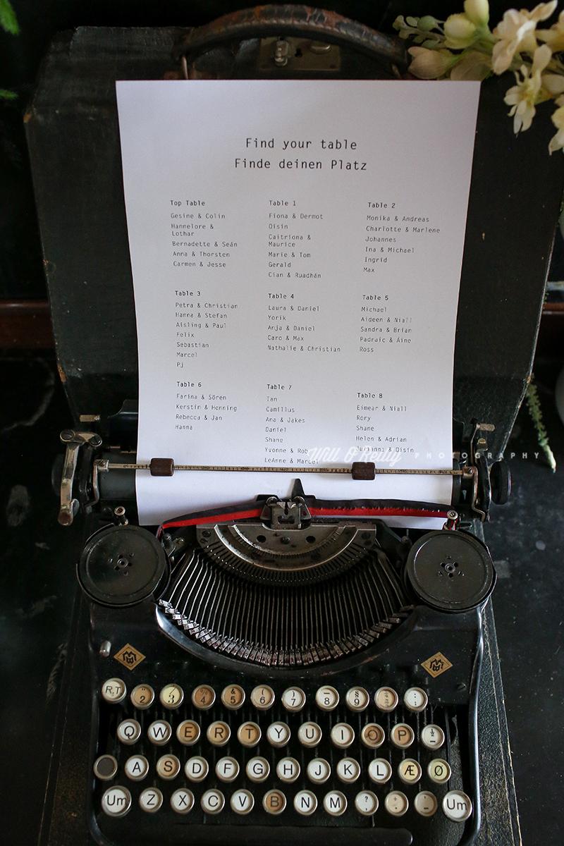 Table Plan Typewriter