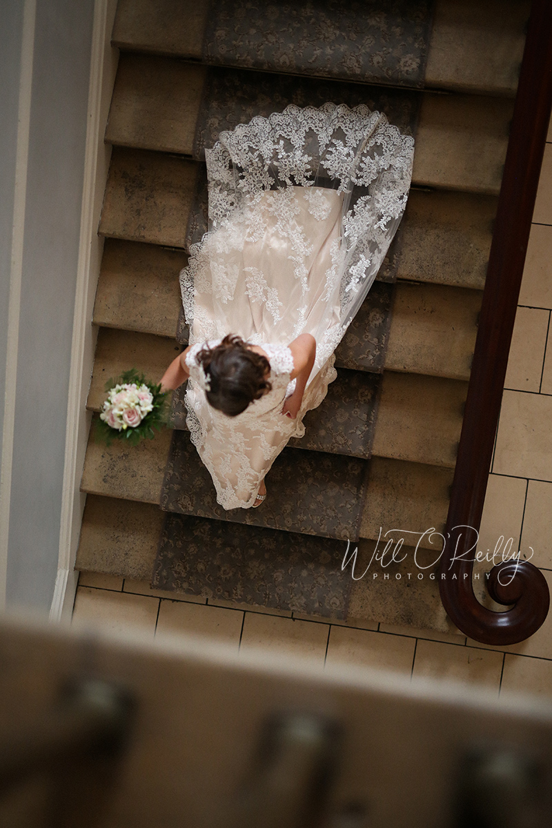 Castle Durrow Stairs Bride